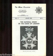 MEDAL COLLECTOR  Vol  17  # 1    JAN  1966   (  OMSA Journal )