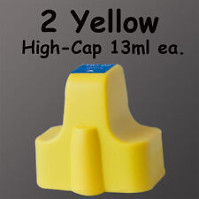2 Yellow HP02 Ink 02xl For HP C6100 C7250 C6150 13ml