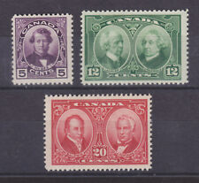 Canada Sc 146-148 MLH. 1927 Famous Canadians Pictorials, cplt set, F-VF
