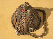 Bwami society hat, Lega, Congo, African, shells, buttons