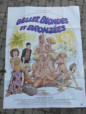 POSTER AFFICHE CINEMA EROTIC 80's / BELLES BLONDES ET BRONZEES Max Pecas