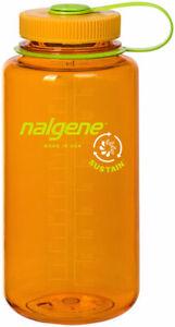 Nalgene Sustain Water Bottle - 32oz, Wide Mouth, Clementine
