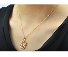 Gatto Hello Kitty Collana Ciondolo Collier oro rosa 18K pl. Idea regalo