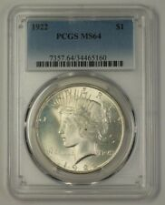 1922 US Peace Silver Dollar $1 Coin PCGS MS-64 Very Choice (17L) (Better)