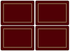 Pimpernel Classic Burgundy Placemats - Set of 4 (Large)