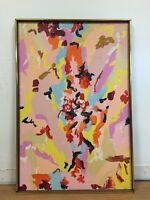 J.D. Signed Abstract Oil on Canvas Painting