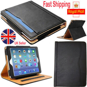New Apple iPad Air1 iPad Air2 Genuine Leather TAN Smart Stand Case Cover