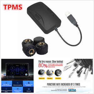 TPMS Car Tire Pressure Monitoring Alarm System +4 Sensors For Android DVD Player