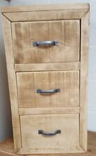 SOLID WOOD RUSTIC CHUNKY PLANK BABY CHEST OF DRAWERS WOODEN STORAGE DRAWERS