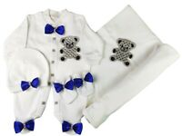 Baby Romper Blanket New born Clothes Handmade Teddy Bear Outfit Cap Mitten Set