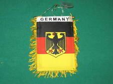 "GERMANY FLAG MINI BANNER 4""x6"" GERMAN CAR WINDOW EAGLE"