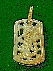 John Hardy Pendant Blue Sapphire Naga Dragon Dog Tag for necklace