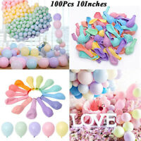 100Pcs 10 Inches Macaron Latex Balloons Baby Shower Birthday Wedding Party Decor