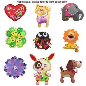 KLEIBER Felt Children Craft Kits Elephant Dog Cat Rabbit Ladybird Lion Gift Set