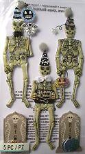 Jolee's Boutique Black & White Skeletons Halloween Scrapbook Craft Stickers