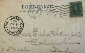 Ben Franklin 1 Cent Stamp Canceled Chicago IL Navajo Weaver Post Card 1905 A3-2