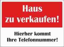 """wetterfestes Schild: """"Haus zu verkaufen""""  Größe A1"""