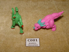 2x MIMP MONSTER IN MY POCKET SERIES 6 (DINOSAURS) FIGURES MEG 1993 RUBBER RARE
