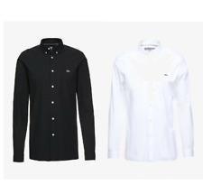✅ Lacoste SLIM FIT Herren Langarm Business Hemd Schwarz oder Weiß Gr. S - XXL ✅