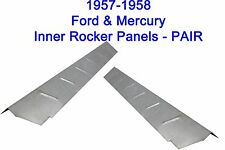 1957 1958 FORD MERCURY EDSEL INNER ROCKER PANELS NEW PAIR! FREE SHIPPING!!