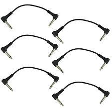 """Signal Flex 6"""" Guitar Pedal 1/4"""" Patch Cables, Pkg. 6"""