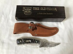 Schrade Old Timer 152OT Sharpfinger Knife and Leather Sheath NEW in Original Box
