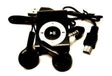 Reproductor MP3 negro Pinza aluminio bateria litio + auricular +usb Envio Gratis