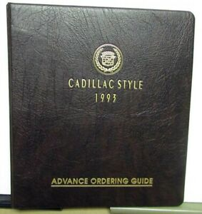 1993 Cadillac Advance Ordering Guide Paint Chip Option Deville Fleetwood Seville