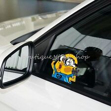 Creative cartoon cute fun Minions hit the glass windows car stickers wall decals