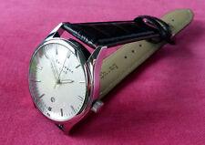 Bergmann 1960-caballeros reloj de pulsera reloj/cuarzo/PU Cuero/cocodrilo más de lo-Optik marrón