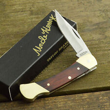 Schrade Uncle Henry Brown Bear Wood Handle Lockback Knife LB3