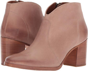 New in Box Womens Frye Nora Zip Short Dusty Rose Ankle Boots Size 10 MSRP $ 298