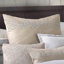 "Barbara Barry Euro European Pillow Sham, Interlace Bandeau, Dune, 26"", New"