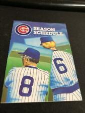 1986 Chicago Cubs Baseball Pocket Schedule Old Style Version