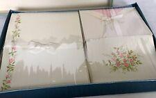 Vintage Eaton's Stationery Set, ROSEBUD Design, Raised Flowers Paper & Envelopes