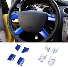 Apto Para Ford Focus Mk2 4 habló Volante insertar Moldura Cubierta Insignia PAC S-max