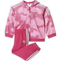 Adidas Infant Shiny Full Tracksuit Kids children Hoodie Trouser Full Set AJ7361