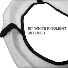 18-inch Diameter Photography Photo Studio Diffuser Cover White for Ring Light