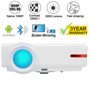 1080P Native 4K Max Bluetooth Android WiFI Projector Wireless LED Projector HDMI