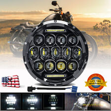 7 inch Round LED Headlight Motorcycle HI/LO Fit for Harley Davidson Dyna Yamaha