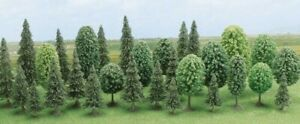 Trees 30 Pieces Assorted H0 Scale 1:87 Diorama Model Busch
