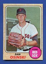1968 Topps # 331 Dan Osinski  Boston Red Sox  EX/MT+  additional ship free
