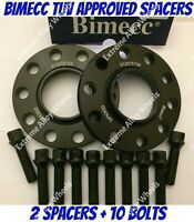 ALLOY WHEEL SPACERS 20mm X 2 BMW 1 2 3 5 6 7 8 SERIES M12X1.5 BOLTS BIMECC