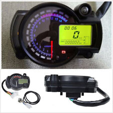 Universal 7 Colors 15000 RPM Motorcycle LCD Digital Speedometer Tachometer Gauge