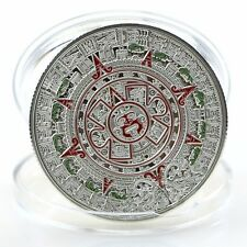Silver Plated Prophecy Mayan Aztec Calendar Commemorative Coin Collection Gift