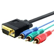 Cavo Adattatore Collegamento VGA - 3 RCA Component lunghezza 1,5m hsb