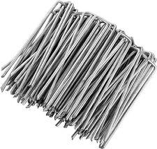 Picchetti a U per fissaggio teli e tessuto su prato e giardino, Zinco inox,2,7mm