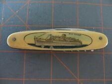 RARE 1940's Bone Pocket Knife from Dutch Ship MS ORANJE - Sank in 1979