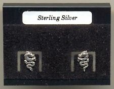 Chinese Dragon Sterling Silver 925 Studs Earrings Carded