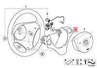 Genuine BMW E92 Steering Wheel Trim black chrome pearl grey OEM 32306783048